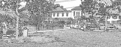 Photograph - Delaware City Quaint Shops In Pencil Motif by Pamela Hyde Wilson