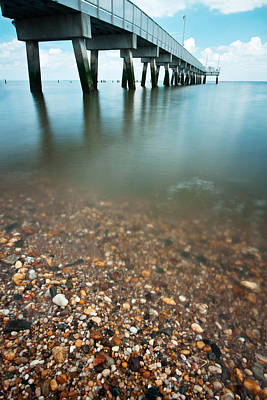 Long Exposure Photograph - Delaware Coastline by Benjamin DeHaven