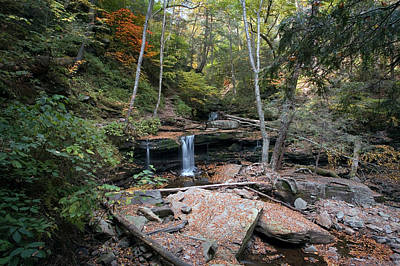 Photograph - Delaware Falls On A Warm October Day by Gene Walls