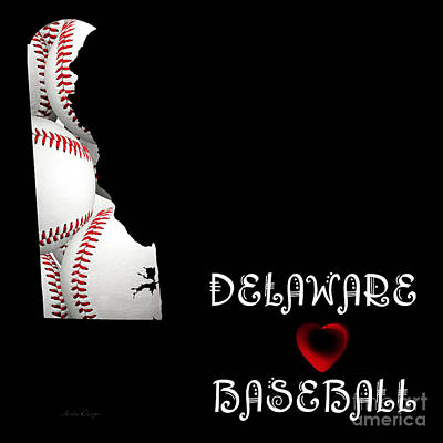Digital Art - Delaware Loves Baseball by Andee Design