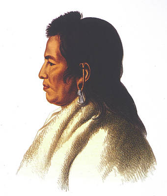 Montour Painting - Delaware Native American by Granger
