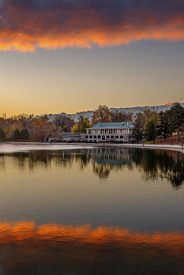 Photograph - Delaware Park Marcy Casino Autumn Sunrise by Chris Bordeleau
