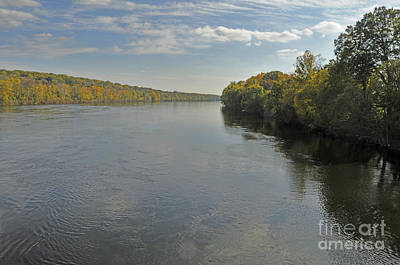 Delaware River In Autumn Print by Addie Hocynec