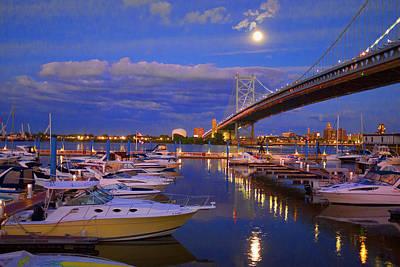 Philadelphia Photograph - Delaware River Reflections by Hugh Smith
