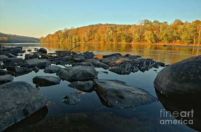 Photograph - Delaware River Sunset by Adam Jewell