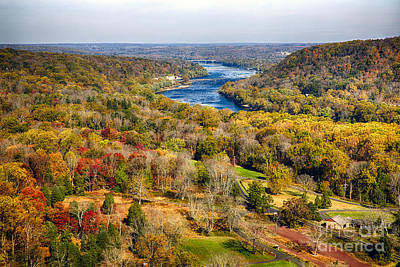 Washingtons Crossing Photograph - Delaware River Valley Fall Scenic by George Oze
