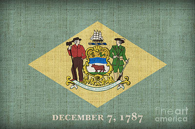 Delaware State Flag Art Print by Pixel Chimp