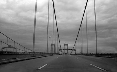 Photograph - Delaware-twin Bridges--bw by Harold E McCray