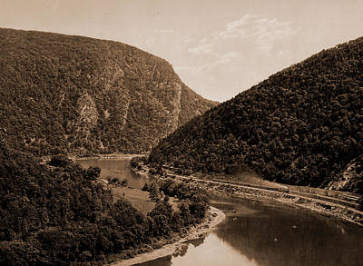 Pennsylvania Drawing - Delaware Water Gap, Above The Gap From Winona Cliff, Pa by Litz Collection