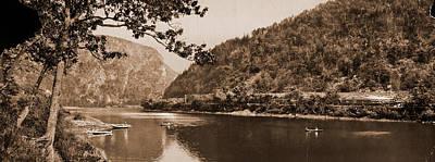 Pennsylvania Drawing - Delaware Water Gap, Pennsylvania, Rivers, Passes Landforms by Litz Collection