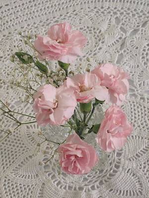 Photograph - Delicate Pink Flowers by Good Taste Art