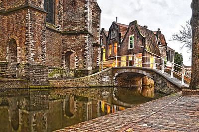 Delft Behind The Church Art Print
