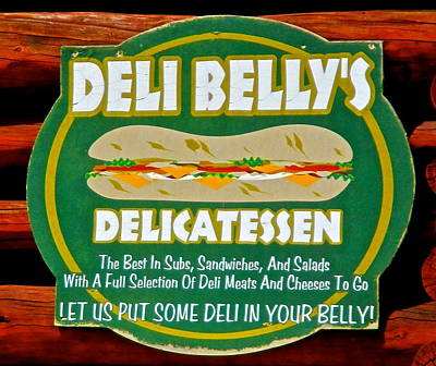 Photograph - Deli Bellys by Jeff Gater