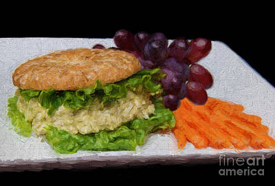 Photograph - Deli Chicken Salad Sandwich Painterly by Andee Design
