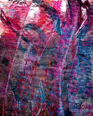 Printmaking Mixed Media - Deli Paper Printing by Laura L Leatherwood