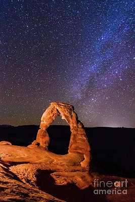 Sky Wall Art - Photograph - Delicate Arch And Milky Way by Matthew Crowley Photography