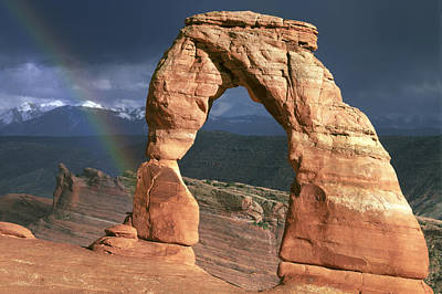 Katharine Hepburn - Delicate Arch and Rainbow by Buddy Mays