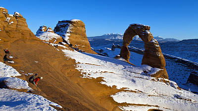 Angels And Cherubs - Delicate Arch Arches National Park Utah by Jason O Watson