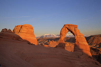 Photograph - Delicate Arch At Sunset-2 by Alan Vance Ley