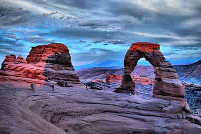 Photograph - Delicate Arch At Sunset by Gregory Ballos