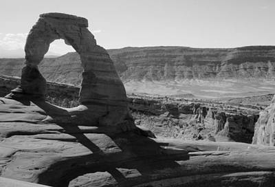 Photograph - Delicate Arch In Black And White by Nina Donner