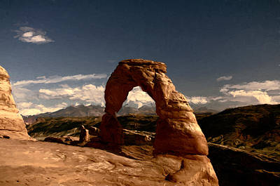 Sandstone Mixed Media - Delicate Arch by John K Woodruff
