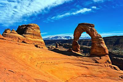 Photograph - Delicate Arch Vista by Tomasz Dziubinski