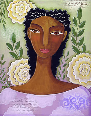 African-american Mixed Media - Delicate by Elaine Jackson