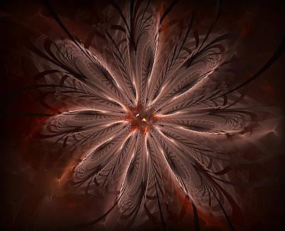 Digital Art - Delicate Flower 1 by Radoslav Nedelchev