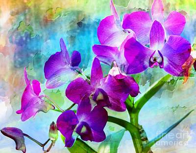 Delicate Orchids Art Print by Kathleen Struckle