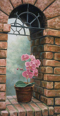 Montreal Painting - Delicate Orchids by Lucie Bilodeau