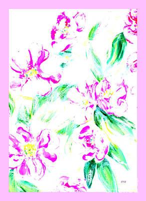 Mixed Media - Delicate Wild Roses by Oksana Semenchenko
