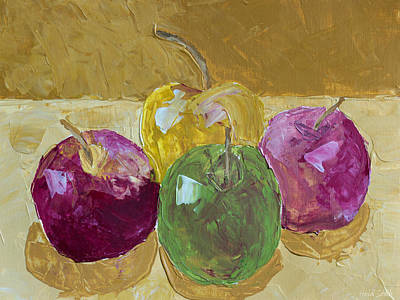 Stillife Painting - Delicious Apples by Heidi Smith