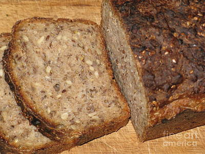 Photograph - Delicious Lithuanian Multigrain Bread by Ausra Huntington nee Paulauskaite