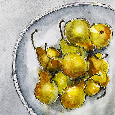 Painting - Delicious Pears by Linde Townsend