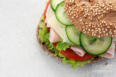 Delicious Sandwich Art Print by Mythja  Photography