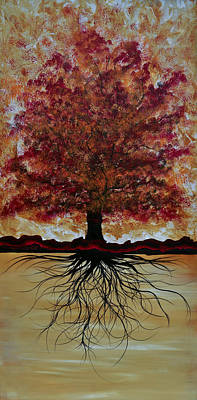 Tree Roots Painting - Delicious Tree by Emily Magone