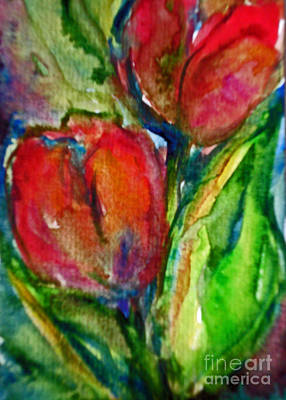 Painting - Delicious Tulips by Jessamine Barron
