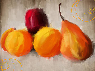Pear Painting - Delight by Lourry Legarde