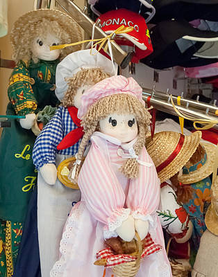 Photograph - delightful Dolls In A French Market by Michael Flood