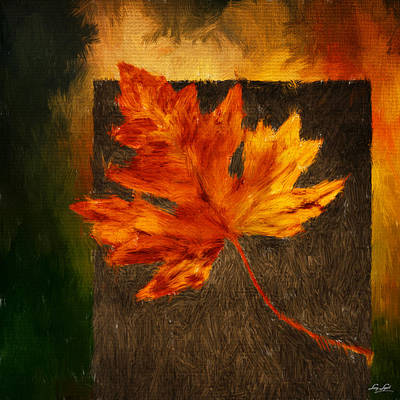 Maple Leaf Art Digital Art - Delightful Fall by Lourry Legarde