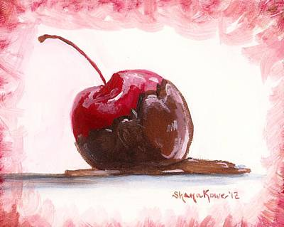 Shana Jackson Painting - Delightfully Delectable 3 Cherry by Shana Rowe Jackson