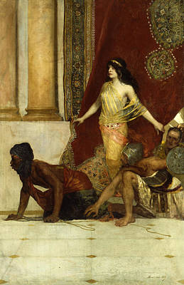 Delilah And The Philistines Art Print by Jean Joseph Benjamin Constant
