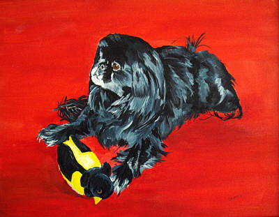 Art Print featuring the painting Delilah by Ellen Canfield