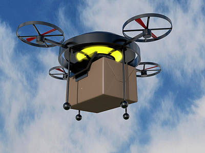 Delivery Drone Art Print