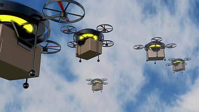 Delivery Drones Art Print