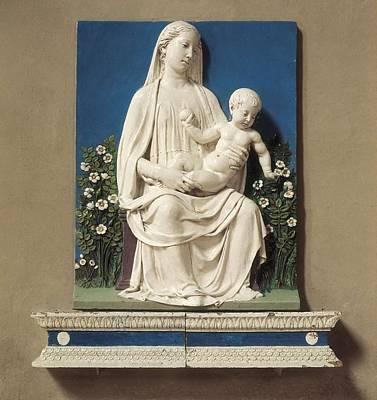 Ceramics Photograph - Della Robbia, Luca 1400-1482. Madonna by Everett