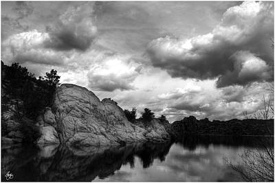 Photograph - Dells Cloud Monochrome by Wayne King