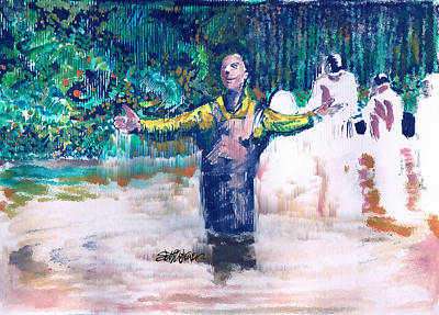 River Scenes Mixed Media - Delmar's Baptism by Seth Weaver