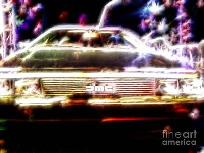 Delorean Fantasy Art Print by Renee Trenholm